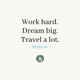 """""""Work hard. Dream big. Travel a lot."""" 🌏  Eens in de zoveel tijd schrijven wij een leuke #quote op en hangen die dan in ons kantoor. Deze quote schreef ik vorige week op toen onze gedachten afdwaalde naar de reizen die we nog allemaal willen gaan maken!🤗 Je kan al je dromen uit laten komen, maar daarvoor moet je wel hard werken!🤓  #workhard #dreambig #travelalot #quoteoftheday #dromenwaarmaken #infinitymarketing #marketingteam #marketing #onlinemarketing #grafischdesign #webdesign"""