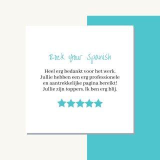 #reviewtime Voor Rock Your Spanish mochten wij een super gave website maken waar je Spaanse cursussen op kon kopen. Met deze review zijn wij natuurlijk hartstikke blij en daarom dachten we, we zetten deze even online..! Ook een klein beetje marketing voor onszelf doen mag wel toch?!😙✈️  #review #websitemaken #webdesign #websitesbouwen #wordpresswebsite #wordpresswebsitemaken #webdesigners #onlinemarketing #onlinevisitekaartje #infinitymarketing